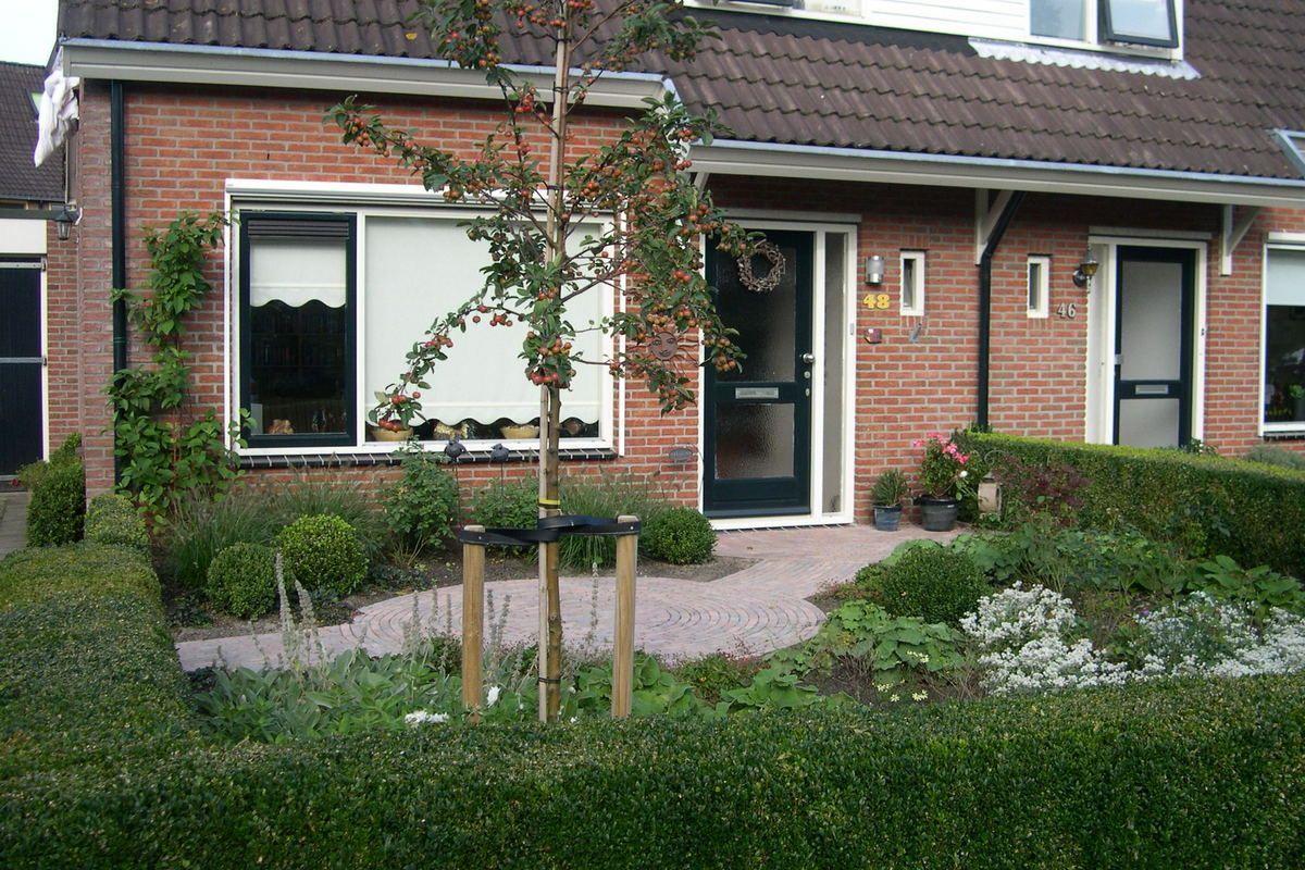 TuinontwerpenbeplantingsplangemaaktvoordezevoortuininVledder