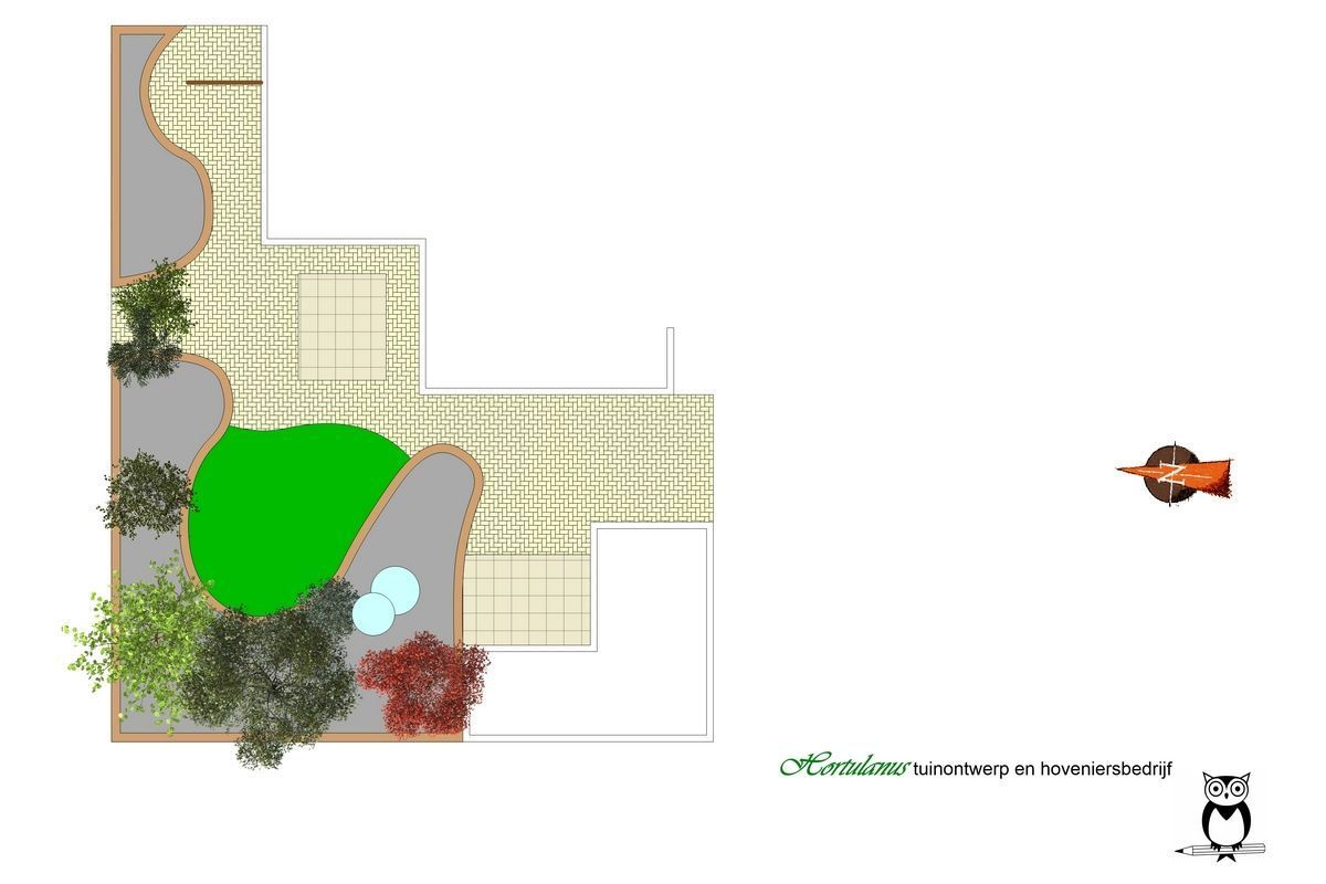 Tuinontwerpvoorkleineachtertuinmetwaterelement